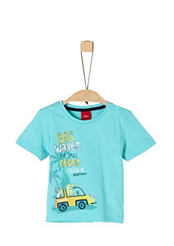 s.Oliver Baby-Jungen 59.906.32.5722 T-Shirt, Türkis (Turquoise 6224), (Herstellergröße: 74) -