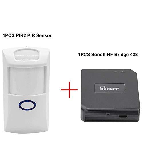Sonoff RF Bridge ,433MHZ,Tür Fenster Sensor, Infrarotsensor + Türsensor + WiF Wireless i-Fernbedienung Drei-in-Eins-Sensor, einfache Bedienung Smart Home Sensor Alarm