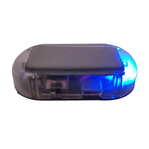 Jappies Solar Power Auto Dummy Alarm LED-Licht Anti-Diebstahl-Warnung Blinkende Sicherheitslampe - Blau