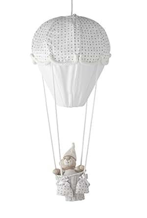 Montgolfière étoile - gris/blanc - Domiva