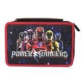 Seven Trousse 3 Compartiments Power Rangers Complète avec accessoires, pour école/enfant -- fermetures zippées