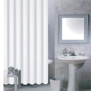 MSV 140030 Rideau de Douche PVA Blanc 200 x 18 x 1 cm