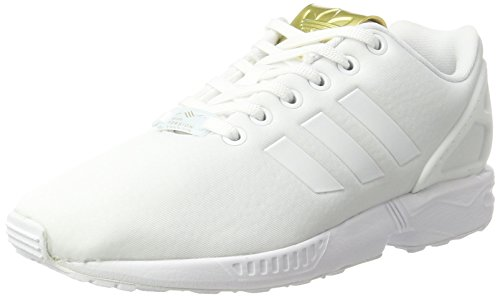 adidas Damen Zx Flux Sneakers Weiß Footwear White/Gold Metallic, 37 1/3 EU