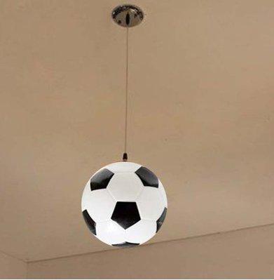 BBC Lampe en verre Pendentif Football Lustre éclairage plafonnier chambre enfants