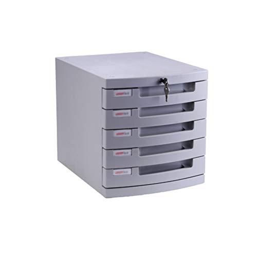 Bxwjg 4-lagiger Abschließbarer Datenschrank, Desktop-Aktenschrank Mehrlagiger Schubladen-Aktenschrank Aktenschrank Bürobedarf Tragbarer Und Ordentlicher Aufbewahrungsbehälter (Farbe: Weiß)