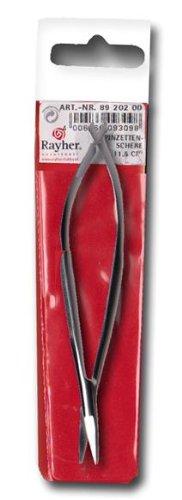 RAYHER HOBBY 8920200 Pinzettenschere, 11,5 cm, gerader Schnitt, sehr feine Spitze, für Decoupage- Papierarbeiten, Scrapbooking, Näh-und Stickarbeiten