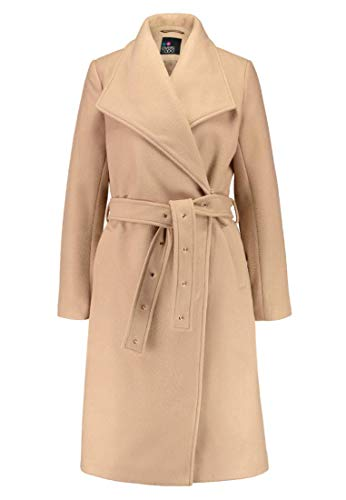 Even&Odd Damen Wintermantel mit Eingrifftaschen – Eleganter Mantel, Taupe in Größe M