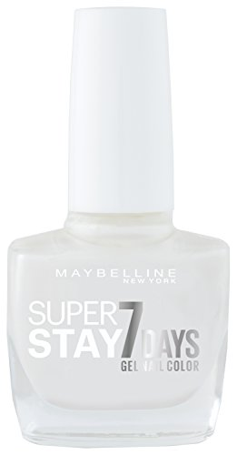 Maybelline New York Fond de teint Superstay nailpolish Forever Strong 7 days Finish Vernis à ongles gel Pearly White/Vernis Couleurs avec Ultra Tenue Sans Lampe UV en blanc brillant, 1 x 10 ml
