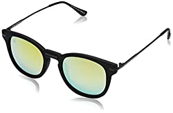 MTV UV Protected Wayfarer Unisex Sunglasses - (MTV-143-C4|52|Yellow Color)