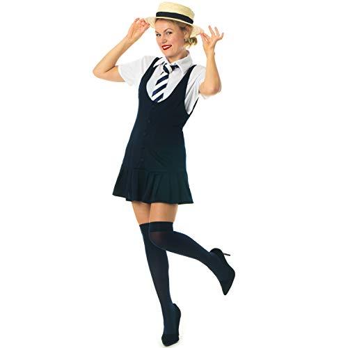 St Dress Trinians Fancy Kostüm - sowest Schulmädchen & Hut