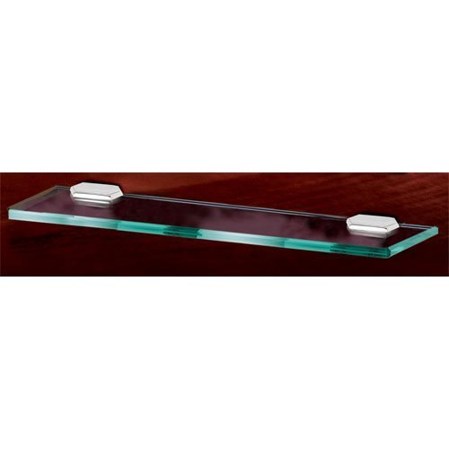 Alno A7750-24-PC Nicole Glass Shelf with Traditional Brackets, Polished Chrome, 24 by Alno -