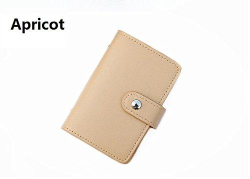 LQABW Compact Kreditkarteninhaber ID Card Wallet Visitenkartenetasche Unisex Mit 20 Kartensteckplätzen,Beige (Pocket-münze 20)