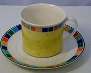 Villeroy & Boch Twist Alea Limone Kaffee-/Teetasse mit Untertasse 2tlg. Villeroy Boch Twist Alea