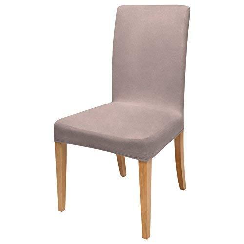 Beautissu fodera elasticizzata per sedia mia - 45x45 cm - pregiato cotone bielastico Öko-tex standard - grigio
