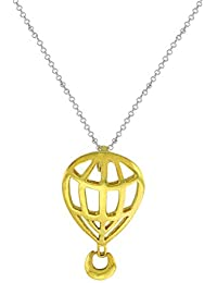 Aastha Jain Hot Air Balloon Sterling Silver(18K Gold Polish) Necklace For Women