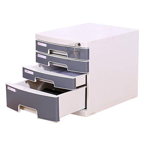 Hänge- & Einstellmappen Aktenschrank Tisch Aktenschrank Kunststoff mit Schloss Vierstock Schublade Büro Datenschrank Aktenschrank Aktenschrank (Color : Gray, Size : 30.2 * 39.5 * 32.5cm)