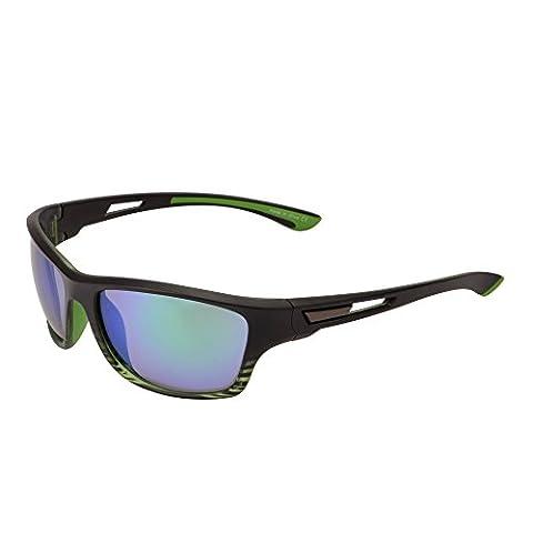 Lunettes de Soleil Sport Miroir pour Cyclisme Courir Pêche Golf Randonnée Antidérapant Branche Caoutchouc Vert