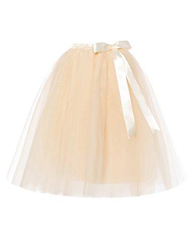 RuiyuhongE Lady's 5 Layers Tulle Princess Tutu Skirts Retro Dress Underskirt Petticoat