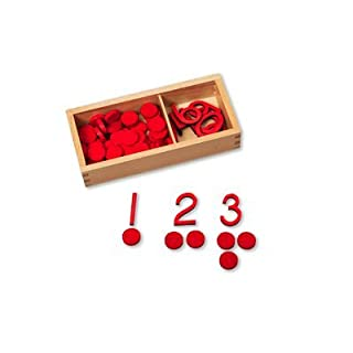 Small Cut-out Numerals and Counters - Red