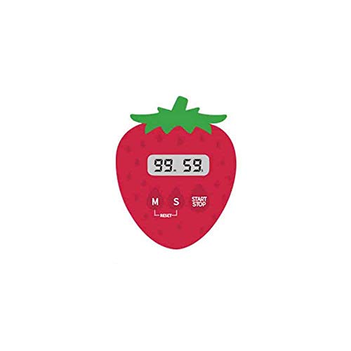 HENGXIANG Cronometro promemoria Timer da Cucina Sveglia Grande Schermo Timer Fragola