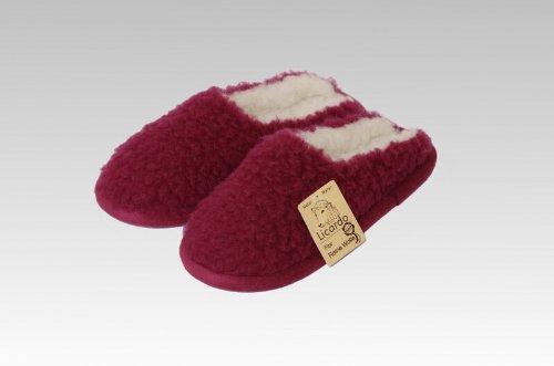 Comfortpantoffel Wolle, 100 % Schurwolle i.F., Farbe Bordeaux Bordeaux