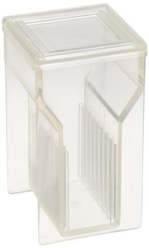 Kartell 235505 16-Place Microscope Slide Staining Jar/Staining Dish