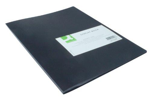 Q-Connect - Carpeta de fundas (A4, 10 fundas), color negro