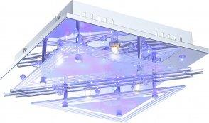 Design Decken Lampe Deko-LED blau weiß Farbwechsler Fernbedienung Globo 68246-4