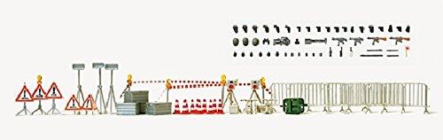 Preiser 31018 Zubehörset Polizei. Bausatz