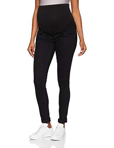 MAMALICIOUS Damen Umstandshose MLLOLA Slim Black Jeans NOOS A, Schwarz Denim, W26/L32