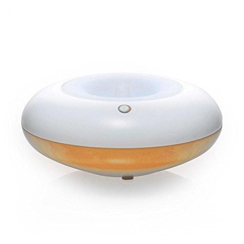 Pajoma 44703 Diffuseur aromatique Orange, Verre avec Changement de Couleur LED, Hauteur 7,5 cm