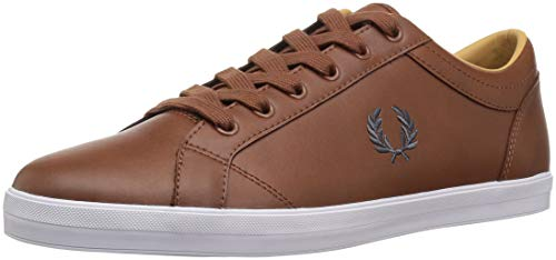 Fred Perry Baseline Leather Tan 45