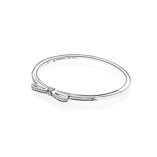 Bracciale rigido in argento e zirconia cubica cm.17,5