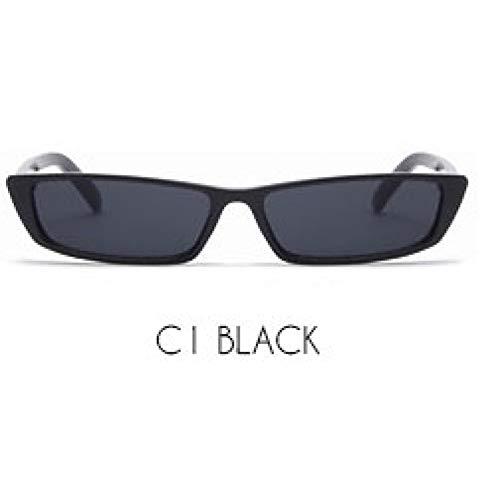 LETAM Sonnenbrille 90 s Sonnenbrille Frauen Vintage Mode kleine rechteckige Rahmen schwarz rot cat Eye Sonnenbrille Retro dünne Shades