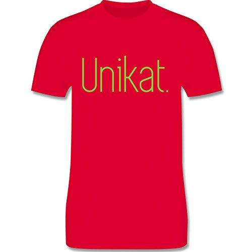 Statement Shirts - Unikat - Herren Premium T-Shirt Rot