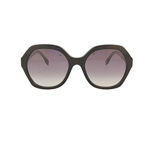 Fendi ff 0270/s oe 807, occhiali da sole donna, nero (black/pk pink), 56