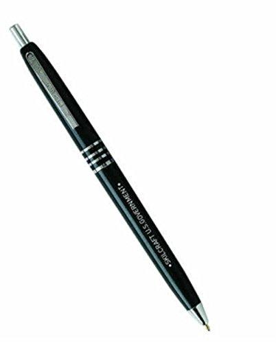 Skilcraft 7520–00–935–7136Schwarzer Kugelschreiber der US-Regierung mit einziehbarem Schaft und schwarzer Tinte, 12Stück -