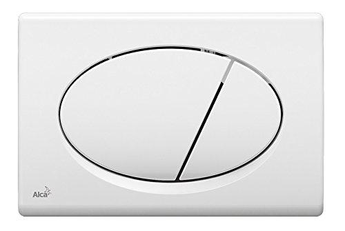 WC Vorwandelement für Trockenbau 85 cm inklusive Betätigungsplatte Weiss Oval Unterputzspülkasten Spülkasten Wand WC hängend inkl. Betätigungsplatte