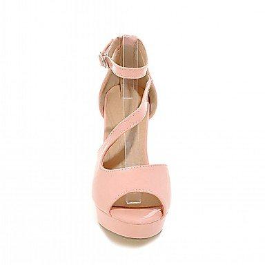 LvYuan Da donna Sandali Finta pelle PU (Poliuretano) Estate Autunno Footing Fibbia Quadrato Bianco Nero Rosa 7,5 - 9,5 cm blushing pink
