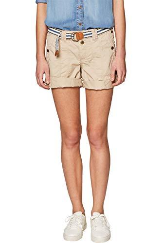 edc by ESPRIT Damen 039CC1C002 Shorts, Beige (Beige 270), W40(Herstellergröße: 40)
