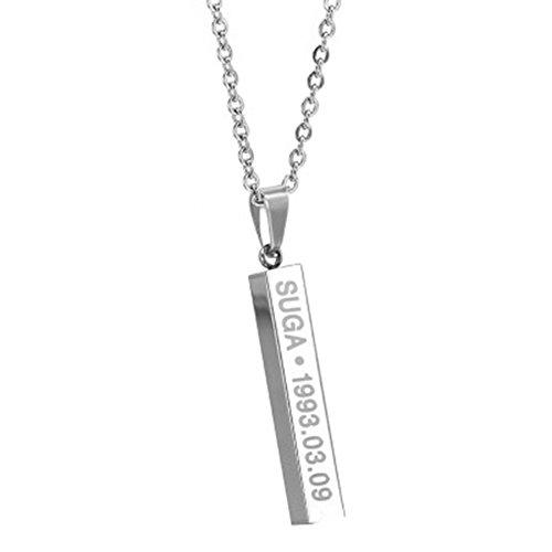 Bellenne BTS Halskette KPOP Anhänger Schmuck Mode Bangtan Jungen Halskette Geschenk für The Army (Suga)