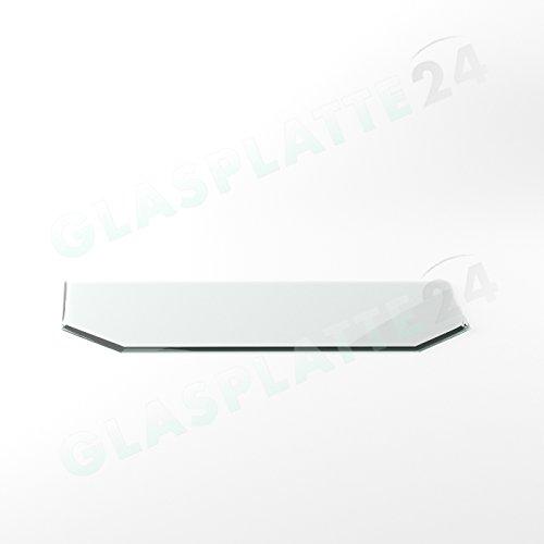 Preisvergleich Produktbild Funkenschutzplatte G29 Sechseck ESG 6mm x 500mm x 1000mm mit 18mm Facette Glasplatte Bodenplatte Kaminplatte Funkenschutz Ofenplatte Kaminglas