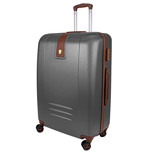 897a0e6d3f61 Rocklands Lightweight 4 Wheel ABS Hard Shell Luggage Suitcase Cabin Travel  Bag ABS9068 (Large 28