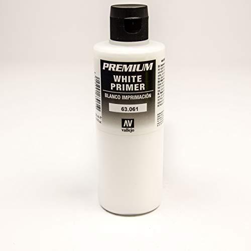 Vallejo : Premium Airbrush Paint : 200ml : White Primer