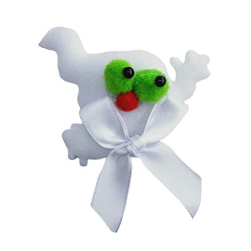 Amosfun 2pcs Halloween LED Broschen leuchtende leuchtende Abzeichen Clips Xmas Party Supplies für Kinder - Kostüm Party Bilder Clip Art