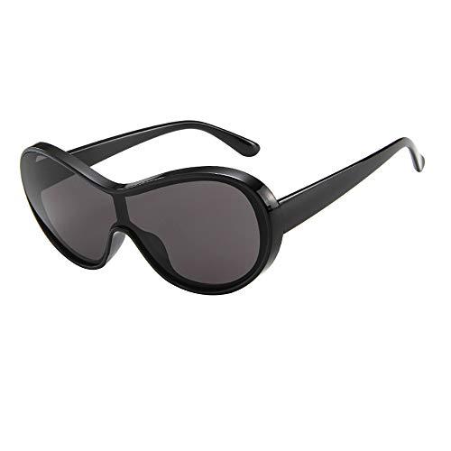 QinMM Frauen Männer Brille Unisex Großen Rahmen Sonnenbrillen Eyewear Ultraleichte Metall Rahmen Nerd Sonnenbrille Retro Vintage Style