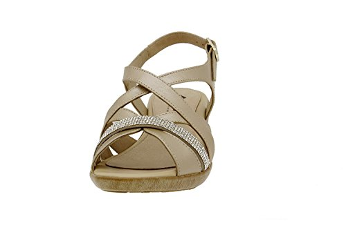 Chaussure femme confort en cuir Piesanto 6558 sandale casual chaussure confortables amples Platino