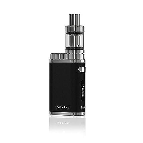 E Cigarette, Eleaf iStick Pico 75W TC Kit Complet, Kit Vape avec Mod Box TC, Vapeur énorme Kit Cigarette électronique, Non et Liquide, Pas de Nicotine (noir)