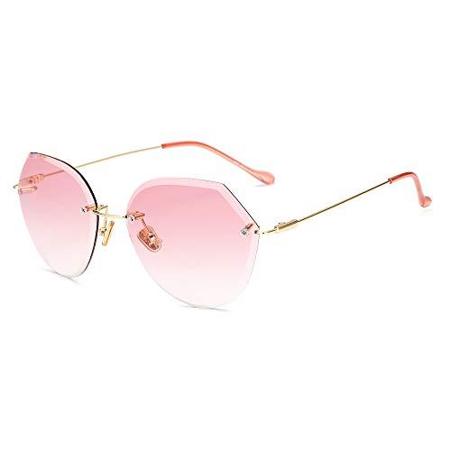Lanbinxiang@ Damen Sonnenbrillen Großhandel Trend Frameless Sonnenbrillen geschnitten Rand Progressive Farbe reflektierende Sonnenbrillen Mode klar (Color : 5)
