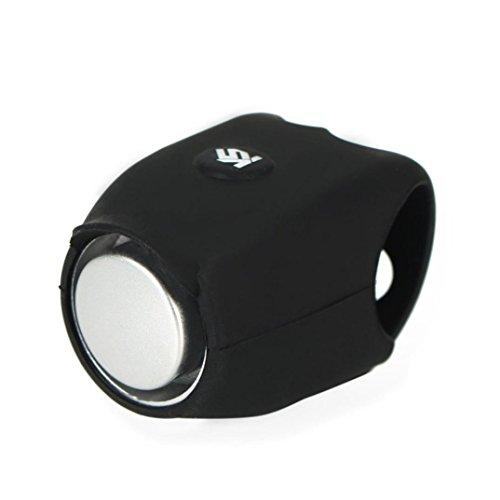 Preisvergleich Produktbild huichang Fahrradklingel Laut, 120 db Kieselgel Wasserdicht Fahrradglocke für Alle Fahrrad (Schwarz)